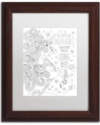 """Trademark Fine Art 'Inspirational Quotes' Framed Graphic Art on Canvas ALI2997-W1114BMF / ALI2997-W1620BMF Size: 14"""" H x 11"""" W x 0.5"""" D Matte Color: White"""