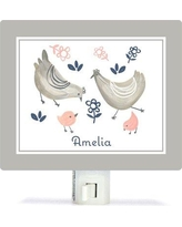 Oopsy Daisy Personalized Little Chickens Canvas Night Light NB62257