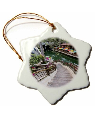 Flowers Along the Riverwalk in Downtown San Antonio, Texas, USA Snowflake Holiday Shaped Ornament