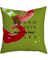 "SafiyaJamila Holiday Treasures Throw Pillow GParentElves_ Size: 20"" H x 20"" W"