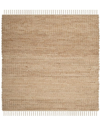 Safavieh Natural Fiber Roslyn 6 x 6 Natural Square Indoor Solid Coastal Handcrafted Area Rug in Brown | NF466A-6SQ