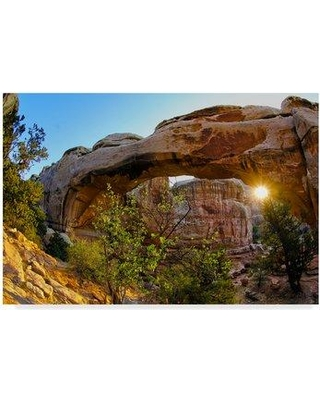 """East Urban Home 'Hickman Arch 1' Photographic Print on Wrapped Canvas W001144480 Size: 30"""" H x 47"""" W x 2"""" D"""