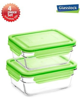 Gllock Container Food Storage Set With Lid Gl0032green