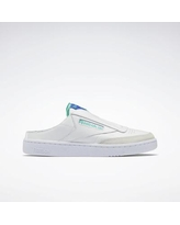 Reebok Women's Club C Laceless Mule Shoes in Ftwr White/Bright Cobalt/Future Teal Size 8.5 - Lifestyle Shoes