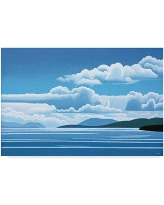 """Trademark Fine Art 'A Break In The Clouds' Graphic Art Print on Wrapped Canvas ALI32564-CGG Size: 30"""" H x 47"""" W x 2"""" D"""