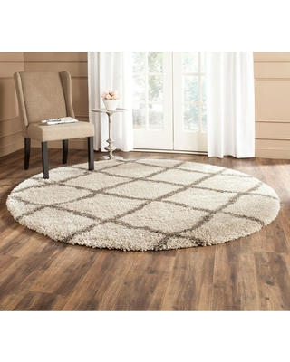 Safavieh Belize Shag Taupe/Gray 7 ft. x 7 ft. Round Area Rug