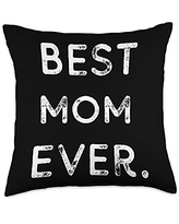 Happy Mothers Day Ideas and Apparel For Mom Happy Mother's Day Best Ever Vintage Cute Women's Mom Throw Pillow, 18x18, Multicolor