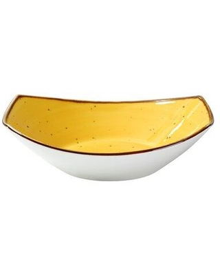 Foundry Select Omak 20 oz. Oval Salad Bowl W001692326 Color: Yellow