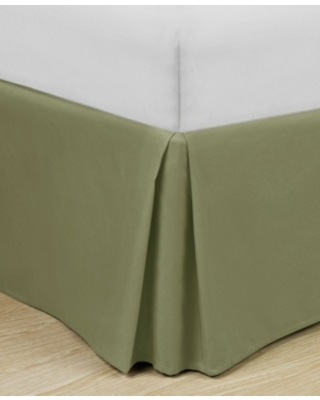 """Home Basic Easy Fit Microfiber Pleated 14"""" Cal King Bedskirt Bedding"""
