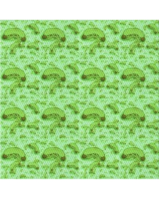 East Urban Home Wool Green Area Rug X113623437 Rug Size: Square 3'
