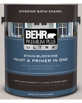 BEHR Premium Plus Ultra 1 gal. #790A-3 Road Runner Satin Enamel Exterior Paint and Primer in One, Grays