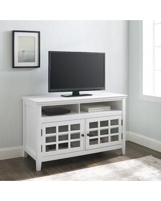 """Naples Park TV Stand for TVs up to 50"""" Beachcrest Home™ Color: White"""