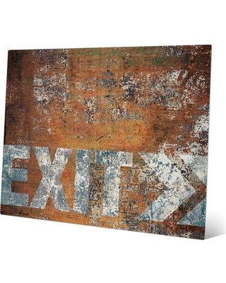 "Click Wall Art Urban Exit Right Graphic Art on Plaque IND0000945MTL Size: 20"" H x 30"" W x 1"" D"