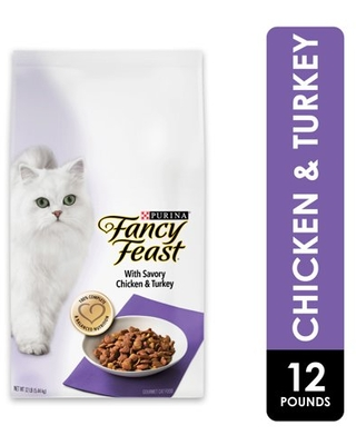 Fancy Feast Dry Cat Food, With Savory Chicken & Turkey, 12 lb. Bag