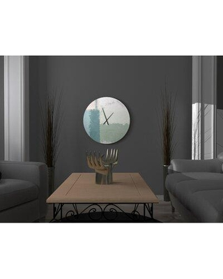 Find Big Savings On Ebern Designs Grounded Brilliant Abstract Metal Wall Clock Metal In Green Size Small Wayfair 5a0e60705c6d45abb7230558fdf6a260