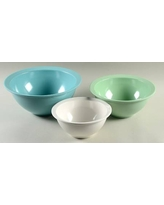 Large Mixing Blue Ombre French Bull 8 Pasta Bowl Melamine Dinnerware Serving