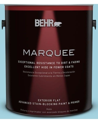 BEHR MARQUEE 1 gal. #M470-3 Midwinter Mist Flat Exterior Paint and Primer in One