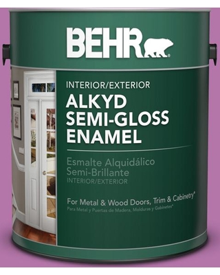 BEHR 1 gal. #P110-5 Girls Only Semi-Gloss Enamel Alkyd Interior/Exterior Paint, Reds/Pinks