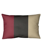 Remarkable Deals On East Urban Home Arizona Hockey Striped Throw Pillow Polyester Polyfill Polyester Polyester Blend In Brick Red Black Desert Sand Size 20 X 20