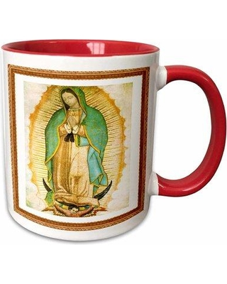 Symple Stuff Sandridge Photo of Painting of Our Lady of Guadalupe Coffee Mug W001258643 Color: Blue