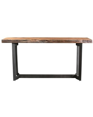 Bent Collection VE-1041-03 Console Table with Iron Base in Brown
