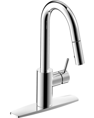 Fontaine by Italia Palais Royal Single-Handle 1 or 3 Hole Pull-Down Sprayer Kitchen Faucet in Chrome, Grey