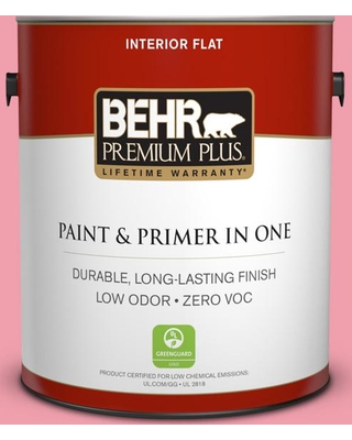 BEHR Premium Plus 1 gal. #120B-5 Candy Coated Flat Low Odor Interior Paint and Primer in One