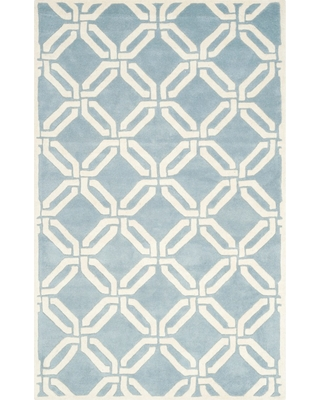 Blue/Ivory Abstract Tufted Accent Rug - (3'x5') - Safavieh, Size: 3'X5', Blue / Ivory