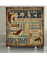 Loon Peak Braylen Welcome to the Lake Shower Curtain LOPK2330