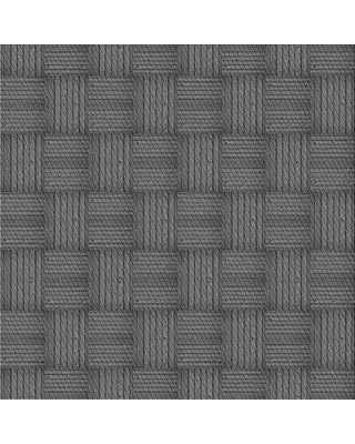 East Urban Home Plaid Wool Gray Area Rug W002557117 Rug Size: Square 5'