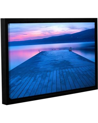 """ArtWall Waiting For Dawn by Steve Ainsworth Framed Photographic Print on Wrapped Canvas JJM6221 Size: 16"""" H x 24"""" W"""