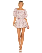 MINKPINK Cecile Off Shoulder Mini Dress in Blush. - size S (also in XS)
