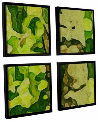 New Deal For Rio Grande 4 Piece Floater Frame Print Set On Canvas Wrought Studio Size 36 H X 36 W X 2 D
