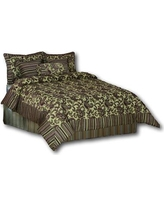 Tache Home Fashion Exotic Blooms 6 Piece Comforter Set 14224 Size: Full