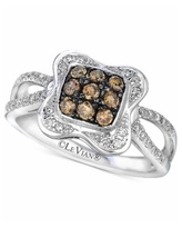 Le Vian Chocolatier Diamond Cluster Ring (1/2 ct. t.w.) in 14k White Gold - White Gold