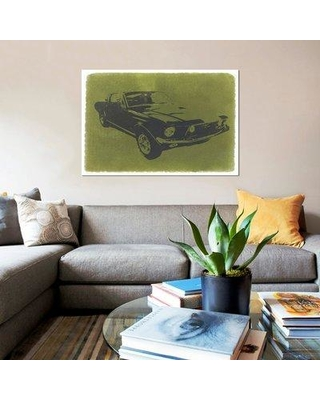 "East Urban Home '1968 Ford Mustang' Graphic Art Print on Canvas UBNH9429 Size: 26"" H x 40"" W x 0.75"" D"