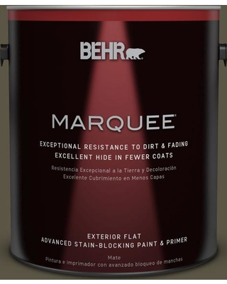 BEHR MARQUEE 1 gal. #770D-7 Wanderer Flat Exterior Paint and Primer in One