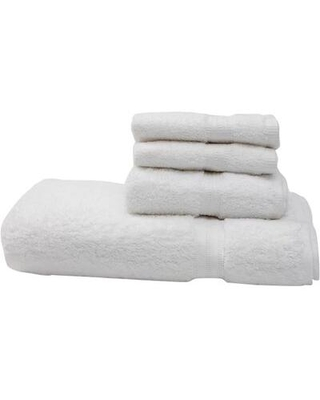 Flato Home Products Terry 4 Piece 100% Cotton Towel Set 20200015 Color: White