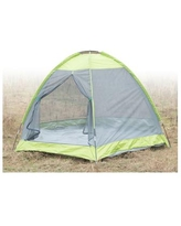 Camping Folding Tent with Screen Exterior - Grey