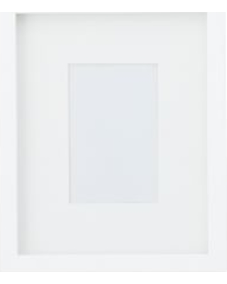 Wood Gallery Single Opening Frame - 4x6 (9x11 overall) - Modern White