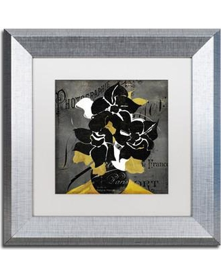 "Trademark Art 'Georgette II' Framed Graphic Art ALI4724-S1 Size: 11"" H x 11"" W x 0.5"" D Mat Color: White"