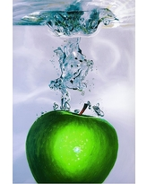 'Apple Splash Ii' by Roderick Stevens Ready to Hang Canvas Wall Art, Multi-Colored