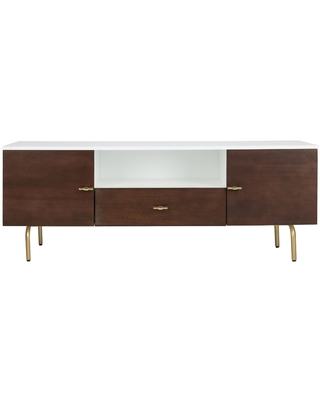 White and Brown Wood Elliott Media Cabinet: Brown/White by World Market