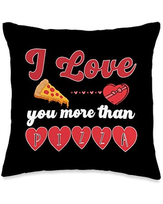 Check Out Deals On Valentine S Day Is Coming Soon Shop I Love You More Than Pizza Throw Pillow 16x16 Multicolor