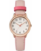 Timex Women's Easy Reader Leather Watch - TW2R62800JT, Size: Small, Pink