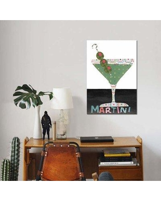"""East Urban Home 'Mix Me a Drink II' Graphic Art Print on Canvas EBHS4703 Size: 26"""" H x 18"""" W x 1.5"""" D"""