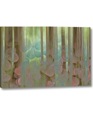 """Millwood Pines 'Washington Seabeck Collage of Oxalis and Trees' Graphic Art Print on Wrapped Canvas BI152506 Size: 16"""" H x 24"""" W x 1.5"""" D"""