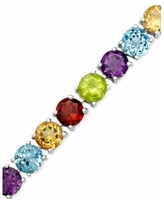 Amethyst Sterling Silver Bracelet (14 ct. t.w.) (Also Available in Garnet, Blue Topaz and Multi-Stone) - Multi