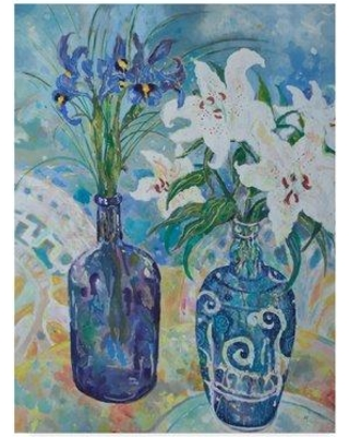 """World Menagerie 'Flowers by the Sea Shore' Watercolor Painting Print on Wrapped Canvas WRME2736 Size: 24"""" H x 18"""" W x 2"""" D"""