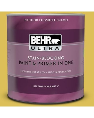 Amazing Deal On Behr Ultra 1 Qt P320 6 Sulfur Yellow Extra Durable Eggshell Enamel Interior Paint Primer